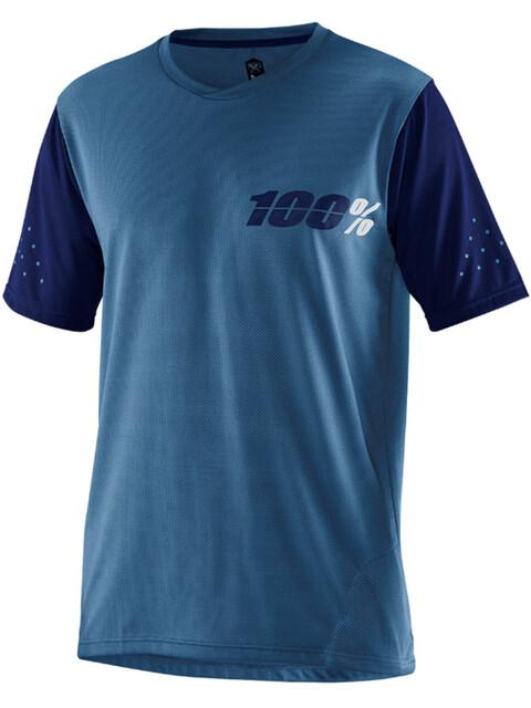 100% Ridecamp Fietsshirt korte mouwen Heren blauw
